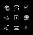 set line icons translation vector image vector image