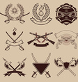 set of weapon club emblems vector image