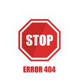 sign stop on a white background in flat style vector image vector image