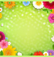 spring poster with bokeh vector image vector image