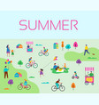 summer outdoor active family vacation vector image vector image