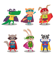 Superhero animal kids cartoon vector image vector image