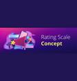 top-ranking concept banner header vector image vector image