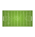 top view football field drawing a soccer game vector image vector image