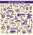 Travel Doodles Collection vector image vector image