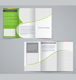 tri-fold business brochure template vector image
