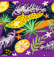 Tropical leaves seamless pattern summer