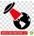 Ufo Explores Earth Eps Icon vector image vector image