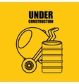 under construction flat icons vector image vector image