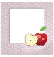 universal page layout with apple icon recipe or vector image vector image