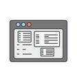 website internet symbol vector image vector image