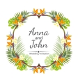 Wedding invitation ornament for the card vector image