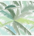 floral pattern palm tree leaves summer tropical vector image