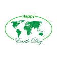 happy earth day vector image