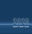 2020 happy new year with classic blue background vector image vector image