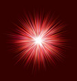 abstract red explosion design on dark background vector image vector image