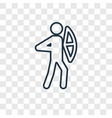 archery concept linear icon isolated on vector image