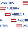 austria travel destination national flag or vector image vector image