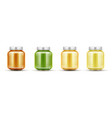 bafood jars set glass puree bottles with cap vector image vector image