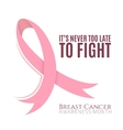 Breast cancer background with pink ribbon vector image vector image