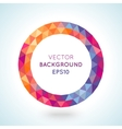 Bright picture round frame in modern polygonal vector image