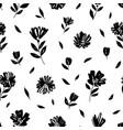 brush flower seamless pattern vector image