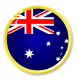 button with flag Australia vector image vector image
