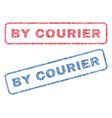by courier textile stamps vector image vector image