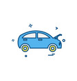 car repairing shop icon design vector image