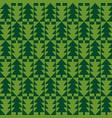 christmas fir tree seamless pattern vector image vector image