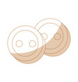 clothes buttons icon vector image