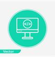 coding computer icon sign symbol vector image
