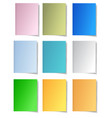 colorful paper notes set of nine papers vector image