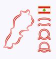 colors lebanon vector image