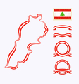 Colors of Lebanon vector image vector image