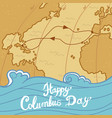 columbus day concept background hand drawn style vector image
