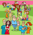 couples in love group cartoon vector image vector image