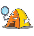 detective tent character cartoon style vector image