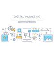 Digital marketing social media vector image