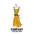 dress and fashion logo vector image