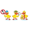 Duck Mascot with sign vector image vector image