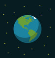 earth space in flat style vector image vector image