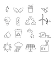 eco line icons vector image