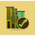 ecology concept with buildings city vector image vector image