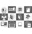 Education logo with books or reading emblems vector image vector image