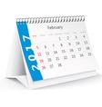 February 2017 desk calendar - vector image vector image