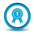 First place icon blue 3D vector image vector image
