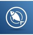 Fish menu icon logo seafood fork tuna vector image vector image