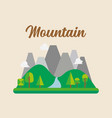 forest and mountain landscape vector image vector image