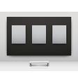 gallery interior empty frames vector image vector image